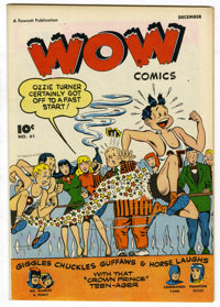 Wow Comics #61 Mile High pedigree (Fawcett, 1947) Condition: NM. Commando Yank and Mr. Scarlet and Pinky appearances. Ov...
