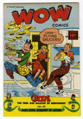 Golden Age (1938-1955):Humor, Wow Comics #62 Mile High pedigree (Fawcett, 1948) Condition: NM. Flying saucer gag cover. Commando Yank and Mr. Scarlet and ...