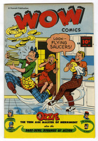 Wow Comics #62 Mile High pedigree (Fawcett, 1948) Condition: NM. Flying saucer gag cover. Commando Yank and Mr. Scarlet...