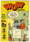 Golden Age (1938-1955):Humor, Wow Comics #64 Mile High pedigree (Fawcett, 1948) Condition: NM-. Mr. Scarlet and Pinky and Commando Yank appearances. Overs...