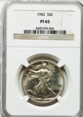 Proof Walking Liberty Half Dollars: , 1942 50C PR65 NGC. NGC Census: (934/2301). PCGS Population(1653/2366). Mintage: 21,120. Numismedia Wsl. Price for problem ...