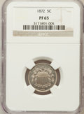 Proof Shield Nickels: , 1872 5C PR65 NGC. NGC Census: (109/52). PCGS Population (107/45).Mintage: 950. Numismedia Wsl. Price for problem free NGC/...
