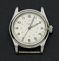 Timepieces:Wristwatch, Universal Geneve Vintage Steel Wristwatch. ...