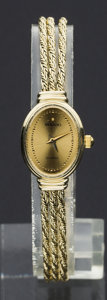 Timepieces:Wristwatch, Movado 14k Gold Quartz Wristwatch. ...