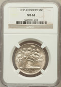 Commemorative Silver: , 1935 50C Connecticut MS62 NGC. NGC Census: (78/3229). PCGSPopulation (182/4122). Mintage: 25,018. Numismedia Wsl. Price fo...