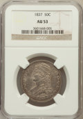 Reeded Edge Half Dollars: , 1837 50C AU53 NGC. NGC Census: (49/881). PCGS Population (75/720).Mintage: 3,629,820. Numismedia Wsl. Price for problem fr...