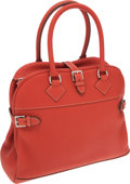 Luxury Accessories:Bags, Hermes Sanguine Clemence Leather Atlas Bag with Palladium Hardware....