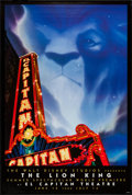 """Movie Posters:Animation, The Lion King (Buena Vista, 1994). One Sheet (27"""" X 40"""") SS, ElCapitan Theatre Style. Animation.. ..."""