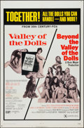 """Movie Posters:Exploitation, Valley of the Dolls / Beyond the Valley of the Dolls Combo (20thCentury Fox, R-1971). One Sheet (27"""" X 41""""). Exploitation...."""