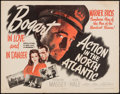 "Movie Posters:War, Action in the North Atlantic (Warner Brothers, 1943). Half Sheet(22"" X 28"") Style A. War.. ..."