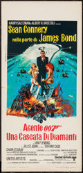 "Movie Posters:James Bond, Diamonds are Forever (United Artists, 1971). Italian Locandina (13""X 27.5""). James Bond.. ..."