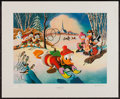 """Movie Posters:Animation, Snow Fun by Carl Barks (Another Rainbow, 1990). Signed LimitedEdition Lithograph (20.5"""" X 25"""""""") Regular Edition. Animation...."""