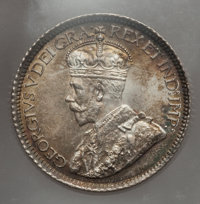 Canada: George V 10 Cents 1913 Small Leaves