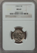 Buffalo Nickels: , 1930-S 5C MS62 NGC. NGC Census: (56/561). PCGS Population(23/1212). Mintage: 5,435,000. Numismedia Wsl. Price for problem...