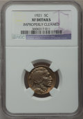Buffalo Nickels: , 1921 5C -- Improperly Cleaned -- NGC Details. XF. NGC Census:(0/637). PCGS Population (10/1018). Mintage: 10,663,000. Numi...