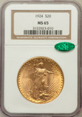 Saint-Gaudens Double Eagles: , 1924 $20 MS65 NGC. CAC. NGC Census: (32275/4806). PCGS Population(39674/8112). Mintage: 4,323,500. Numismedia Wsl. Price f...