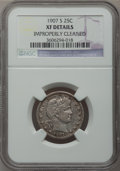 Barber Quarters: , 1907-S 25C -- Improperly Cleaned -- NGC Details. XF. NGC Census:(0/60). PCGS Population (4/80). Mintage: 1,360,000. Numism...