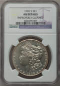 Morgan Dollars: , 1902-S $1 -- Improperly Cleaned -- NGC Details. AU. NGC Census:(54/2590). PCGS Population (100/4263). Mintage: 1,530,000. ...