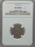 Lincoln Cents: , 1912-S 1C AU58 NGC. NGC Census: (41/151). PCGS Population (75/163).Mintage: 4,431,000. Numismedia Wsl. Price for problem f...