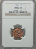 Lincoln Cents: , 1927-S 1C MS62 Red and Brown NGC. NGC Census: (28/141). PCGSPopulation (31/316). Mintage: 14,276,000. Numismedia Wsl. Pric...
