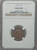 Lincoln Cents: , 1915 1C MS63 Brown NGC. NGC Census: (42/95). PCGS Population(48/97). Mintage: 29,092,120. Numismedia Wsl. Price for proble...