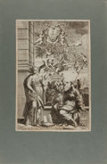 Books:Prints & Leaves, [Engraved Plate]. Ca. 18th Century. Approx. 13.25 x 8.75 inches.Tipped to paper. Very good....