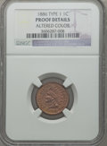 Proof Indian Cents, 1886 1C Type One -- Altered Color -- NGC Details. Proof. NGCCensus: (0/196). PCGS Population (0/156). Mintage: 4,290....