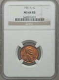 Lincoln Cents: , 1931-S 1C MS64 Red and Brown NGC. NGC Census: (681/289). PCGSPopulation (848/118). Mintage: 866,000. Numismedia Wsl. Price...