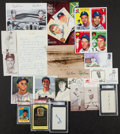 Autographs:Others, Baseball Greats Signed Photos, Index Cards, And First Day Covers....