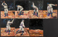 Baseball Collectibles:Others, Carl Mays Original Oil Painting Series (Ray Chapman Incident)....