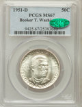 Commemorative Silver: , 1951-D 50C Booker T. Washington MS67 PCGS. CAC. PCGS Population(14/0). NGC Census: (35/0). Mintage: 7,004. Numismedia Wsl....