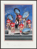 """Football Collectibles:Others, San Francisco 49ers """"Four-Time World Champions"""" Multi Signed Print. ..."""