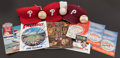 Baseball Collectibles:Others, Philadelphia Phillies Stars Signed and Unsigned Memorabilia Lot of13....
