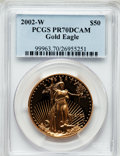 Modern Bullion Coins, 2002-W G$50 One-Ounce Gold Eagle PR70 Deep Cameo PCGS. PCGSPopulation (165). NGC Census: (632). Numismedia Wsl. Price for...
