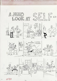 "Sergio Aragones - Mad #288, Complete 3-page Story ""A Mad Look at Self-Defense"" Original Art (EC, 1989). You'll..."