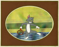 Animation Art:Production Cel, The Tom and Jerry Comedy Show Animation Production Cel Original Art(Filmation, 1980). In 1980, Filmation Studios tried thei...
