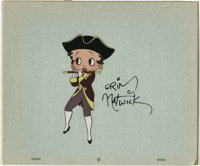 Grim Natwick - Betty Boop Specialty Cel Original Art (undated). Betty Boop strikes a patriotic pose, in this hand-inked...