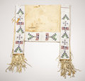 American Indian Art:Beadwork, A SIOUX PICTORIAL BEADED HIDE SADDLE BLANKET. . c. 1890. ...