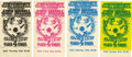 "Music Memorabilia:Tickets, Jimi Hendrix Experience ""Flying Eyeball"" Concert Ticket GroupBG-105 (Bill Graham, 1968). A set of four tickets, including ...(Total: 4 Item)"