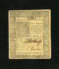 Colonial Notes:Delaware, Delaware January 1, 1776 18d Choice About New. A single horizontal center fold is found on this boldly signed and very well ...