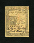 Colonial Notes:Pennsylvania, Pennsylvania October 1, 1773 50s Choice New. This is a veryhandsome piece of Pennsylvania currency which has three superb s...