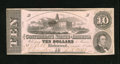 Confederate Notes:1862 Issues, T52 $10 1862. Cr. 377 This lightly folded example is brightly hued.About Uncirculated....