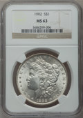 Morgan Dollars: , 1902 $1 MS63 NGC. NGC Census: (1070/3429). PCGS Population(1612/4499). Mintage: 7,994,777. Numismedia Wsl. Price for probl...