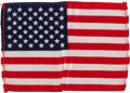 Explorers:Space Exploration, Apollo 15 Flown American Flag Originally from the PersonalCollection of Mission Commander Dave Scott, with Signed LOA....