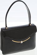 Luxury Accessories:Bags, Gucci Black Leather Top Handle Bag with Silver and Gold Hardware....