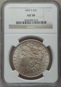 Morgan Dollars: , 1899-S $1 AU58 NGC. NGC Census: (202/1877). PCGS Population(165/3428). Mintage: 2,562,000. Numismedia Wsl. Price for probl...