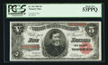 Large Size:Treasury Notes, Fr. 363 $5 1891 Treasury Note PCGS About New 53PPQ.. ...