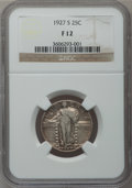 Standing Liberty Quarters: , 1927-S 25C Fine 12 NGC. NGC Census: (100/620). PCGS Population(173/1103). Mintage: 396,000. Numismedia Wsl. Price for prob...