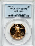 Modern Bullion Coins, 2004-W $25 Half-Ounce Gold Eagle PR70 Deep Cameo PCGS. PCGSPopulation (174). NGC Census: (686). Numismedia Wsl. Price for...