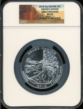 Modern Bullion Coins, 2010 25C Grand Canyon Five Ounce Silver, Early Releases MS69 NGC.PCGS Population (1327/0)....